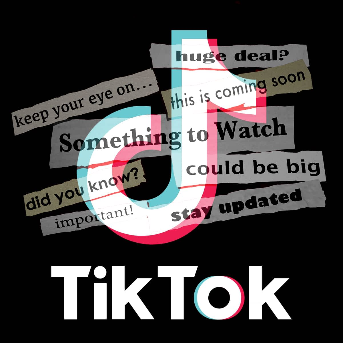 Image Of The Tik Tok Logo With Text Overlayed On Top